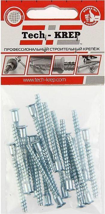 """Винт конфирмат """"Tech-KREP"""", с потайной головкой, цвет: серый металлик, 7 х 70 мм, 10 шт"""