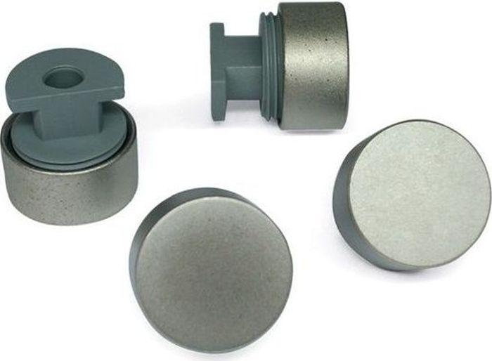 Зеркалодержатель Tech-KREP, без сверления, 17 мм, цвет: никель матовый, 4 шт элементы крепежа