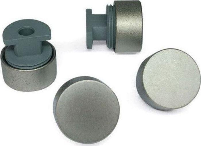 Зеркалодержатель Tech-KREP, без сверления, 17 мм, цвет: хром матовый, 4 шт элементы крепежа