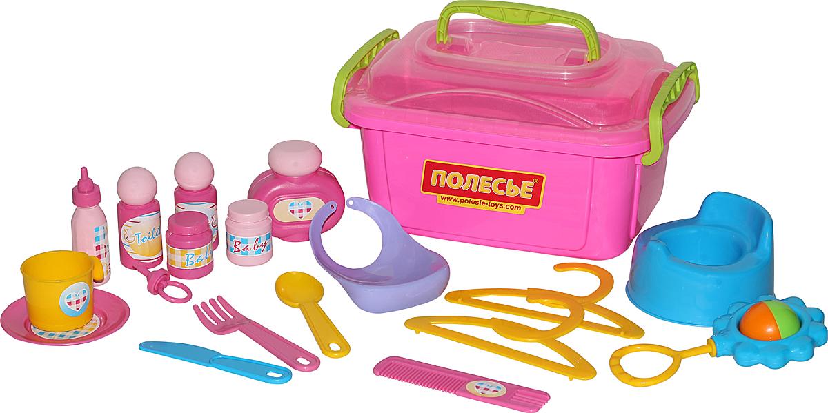 Фото - Полесье Игровой набор Няня №2, цвет в ассортименте полесье набор игрушек для песочницы 468 цвет в ассортименте