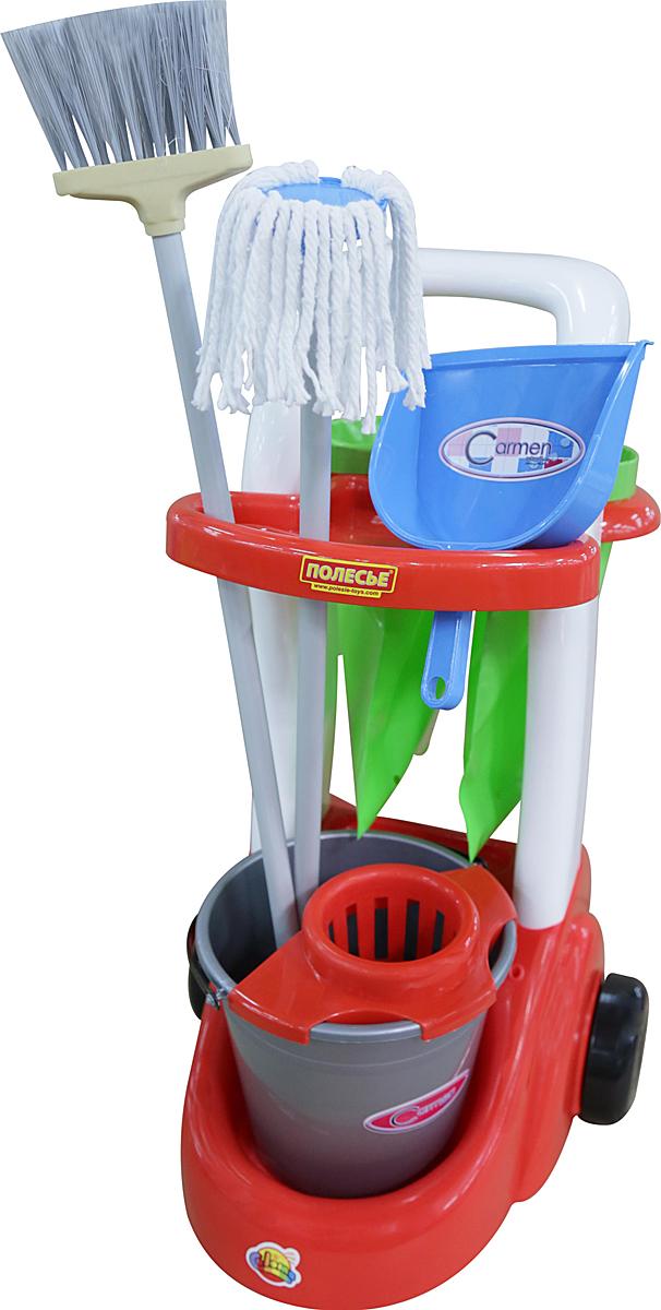 Полесье Игровой набор Помощница 46956, цвет в ассортименте écoiffier игровой набор ecoiffier clean home тележка для уборки с пылесосом 10 предметов