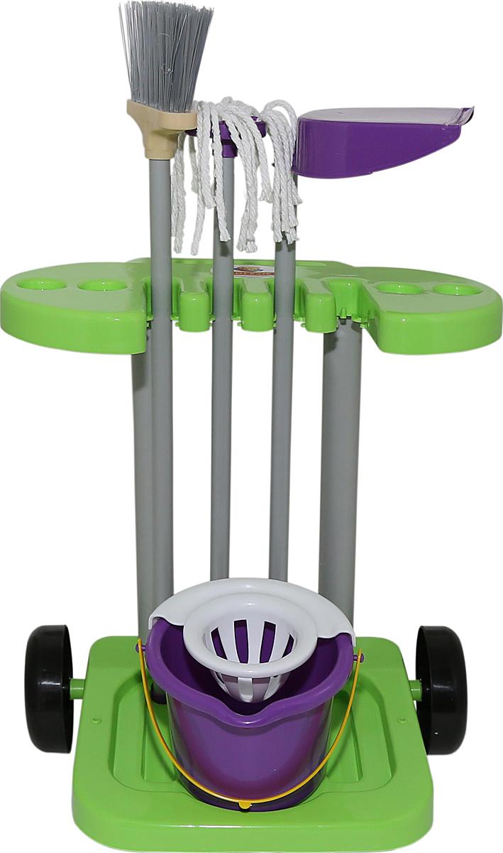 Полесье Игровой набор Помощница 3, цвет в ассортименте écoiffier игровой набор ecoiffier clean home тележка для уборки с пылесосом 10 предметов
