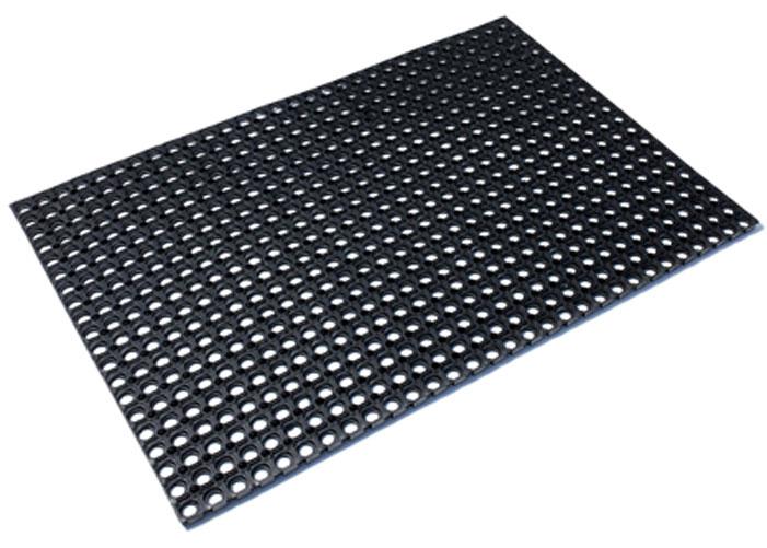 Коврик придверный Vortex, грязесборный, цвет: черный, 40 х 60 см коврик придверный vortex клен грязесборный цвет черный 40 х 60 см