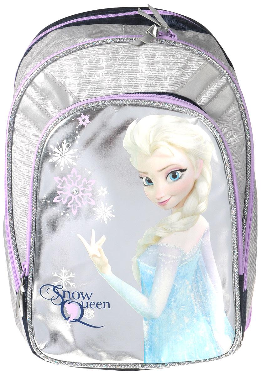 """Рюкзак школьный Disney Frozen """"Snow Queen"""", цвет: серебристый, фиолетовый. FZCB-UT1-731"""
