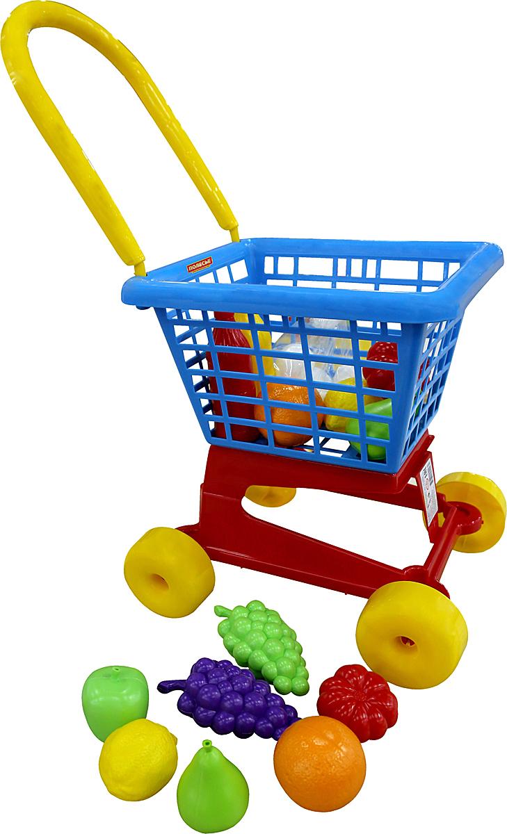 Фото - Полесье Игрушечная тележка Supermarket № 1 с набором продуктов, цвет в ассортименте полесье игрушечная тележка supermarket 1 с набором продуктов цвет в ассортименте