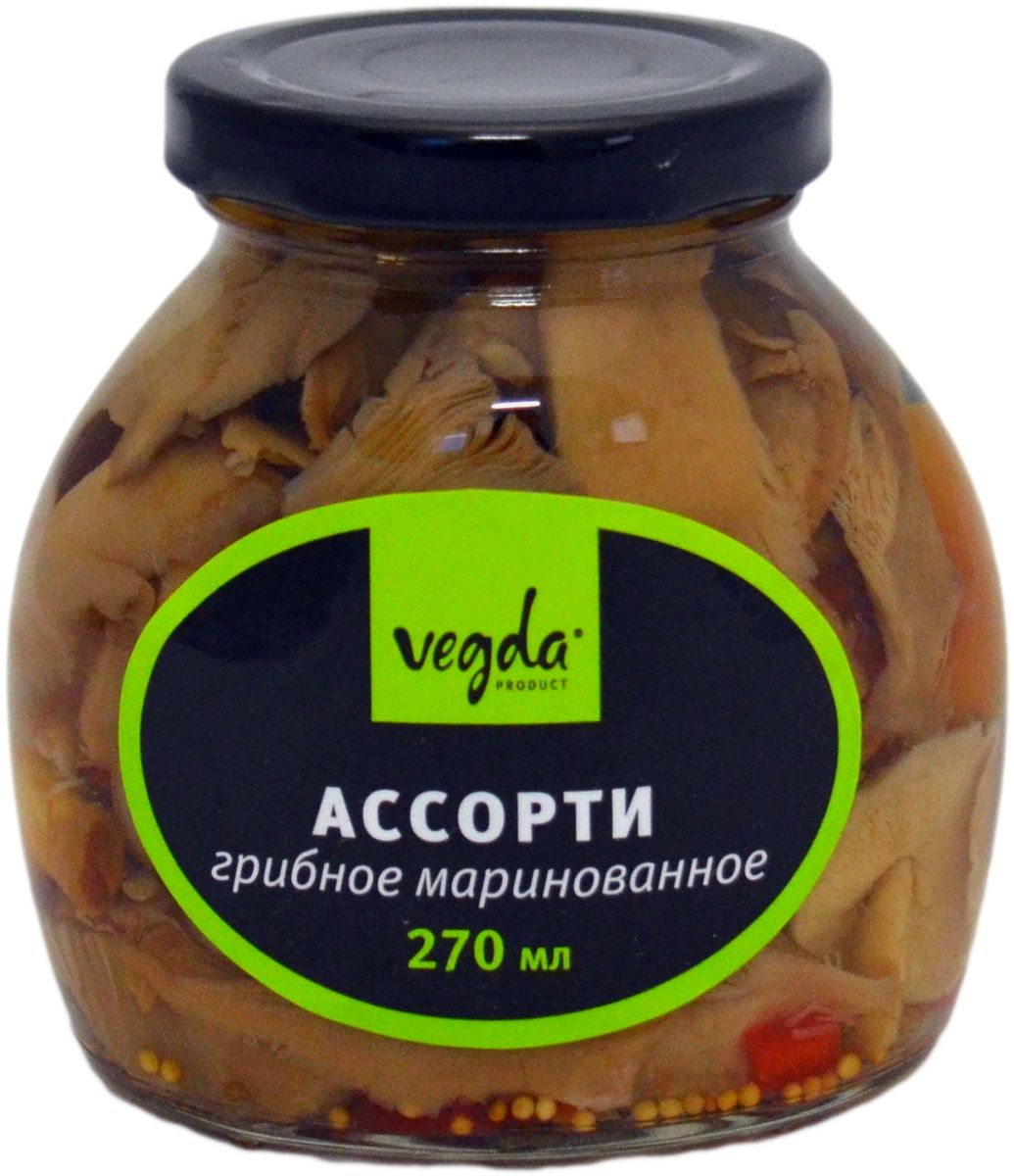 Vegdaассорти грибное маринованное, 270 мл Vegda Product