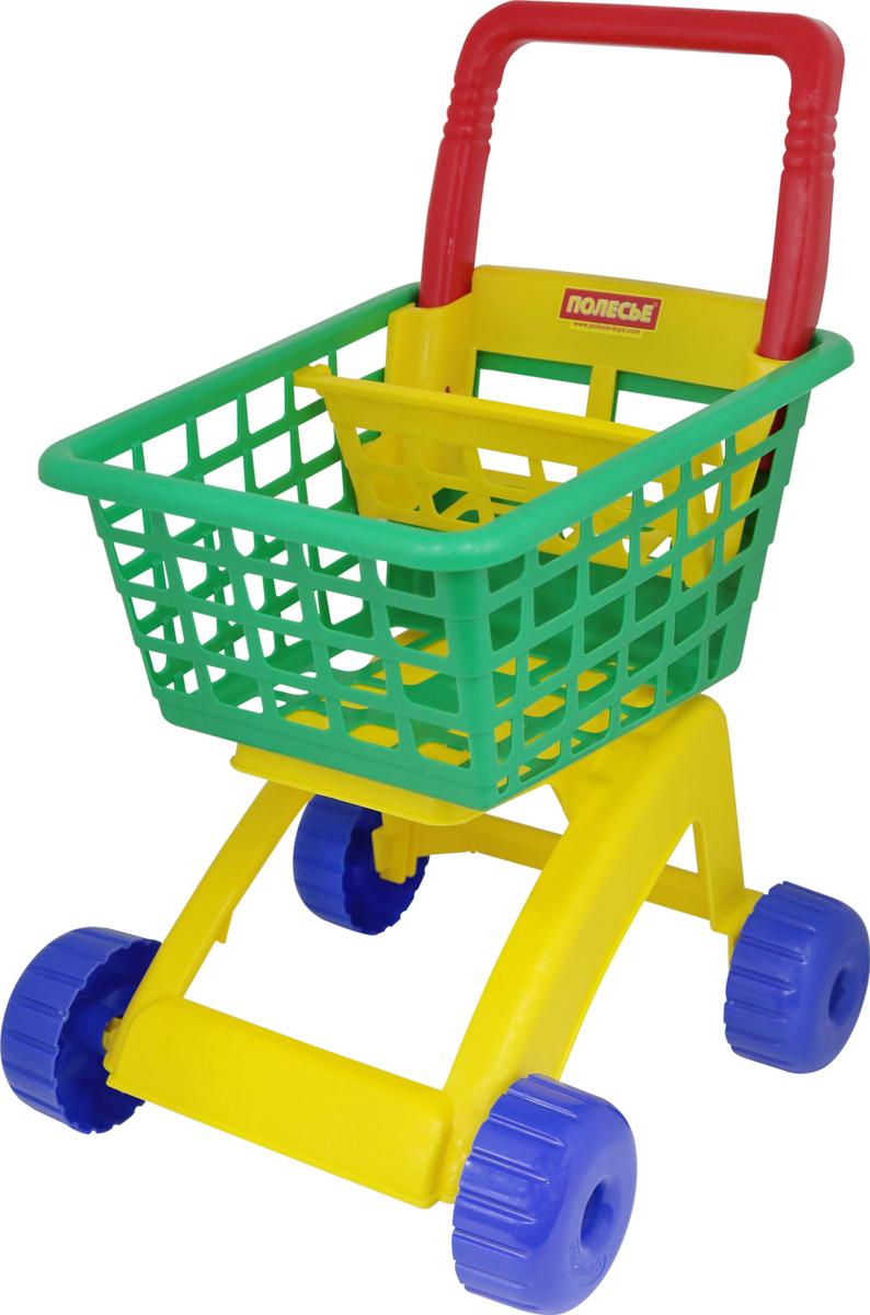 Фото - Тележка игрушечная для супермаркета Полесье, цвет в ассортименте полесье игрушечная тележка supermarket 1 с набором продуктов цвет в ассортименте