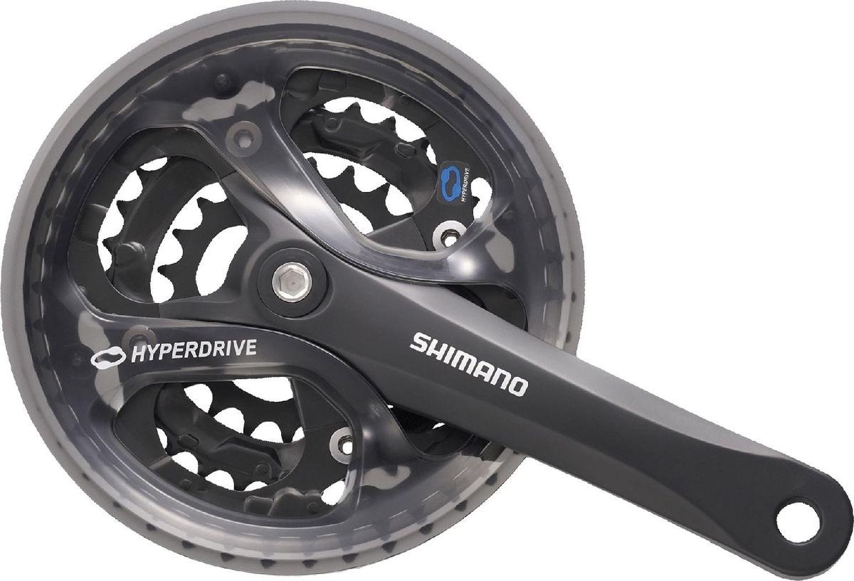 Фото - Система шатунов Shimano Acera M361, цвет: черный, 170 мм, 48/38/28T шатуны sun race fcm904 8 9 скоростей 42 34 24 под квадрат
