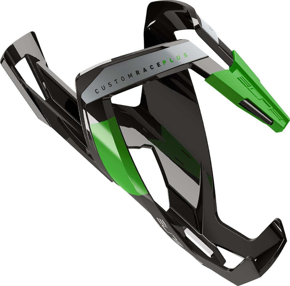 Флягодержатель Elite Custom Race Plus, цвет: черный, зеленый
