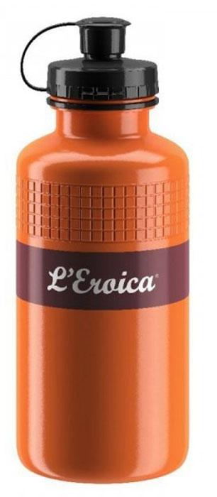 Фляга велосипедная Elite Eroica Rust, цвет: оранжевый, 500 мл фляга elite nomo 750 мл пищевой пластик белый el0173002