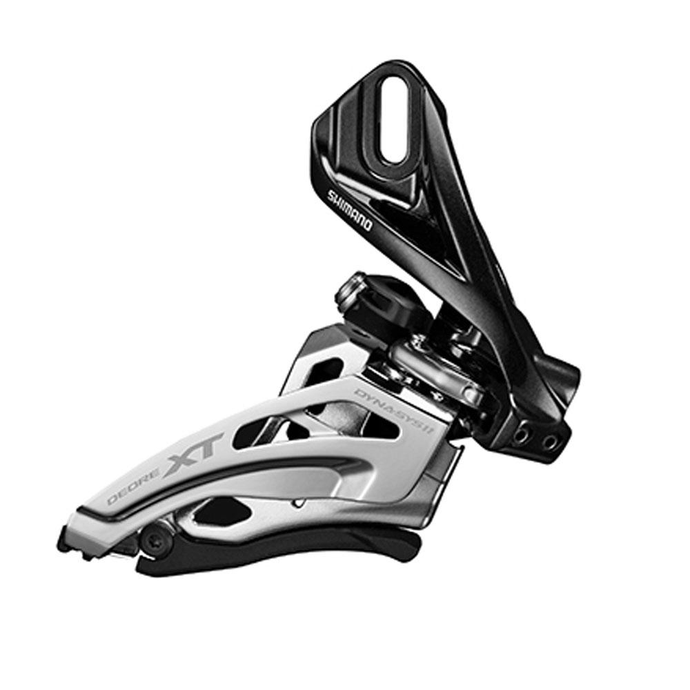 Переключатель передний Shimano XT M8020-D, direct mount, side-swing, для 2 х 11 скоростей, верхняя тяга