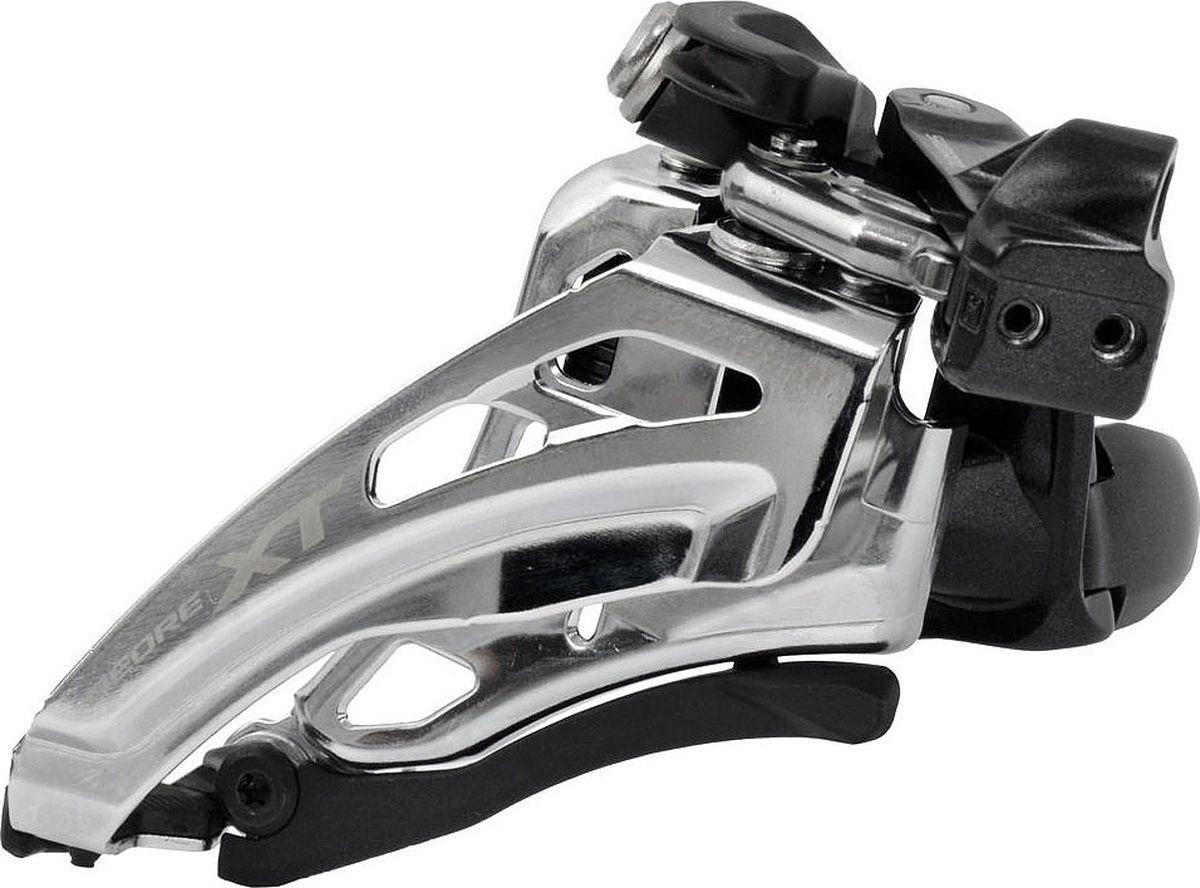 """Переключатель передний Shimano """"XT M8020-L"""", нижний хомут, side-swing, для 2 х 11 скоростей, верхняя тяга"""