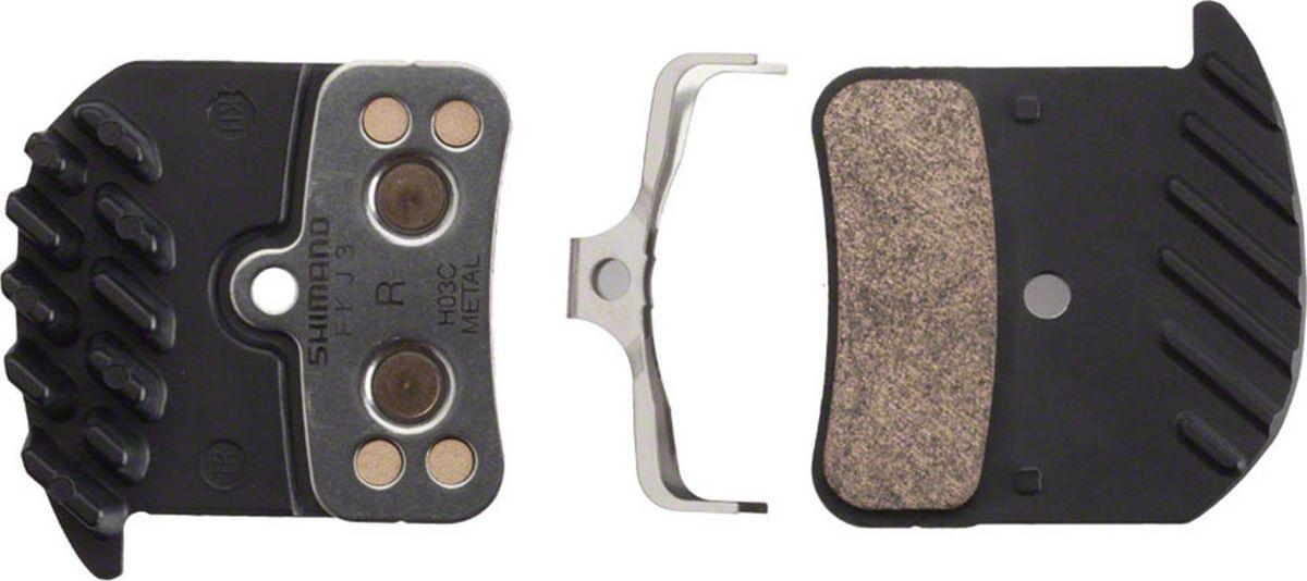 Тормозные колодки Shimano H03C, для дисковых тормозов, с радиатором, с шплинтом