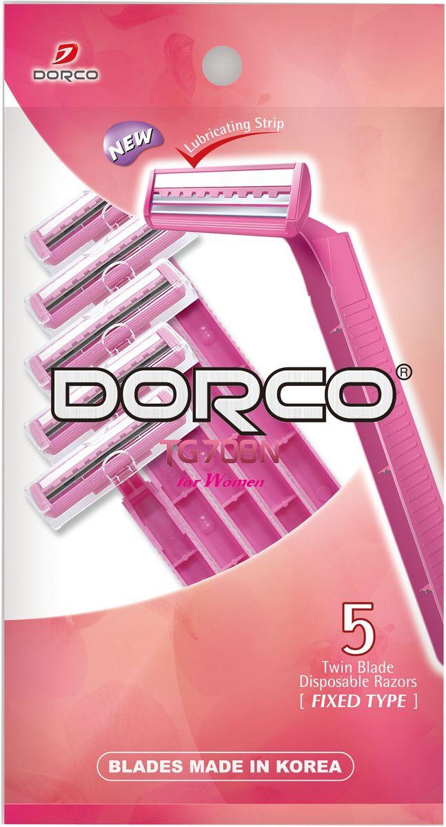 Dorco Cтанки для бритья Dorco 2, одноразовые, женские, 5 шт. станок для бритья dorco