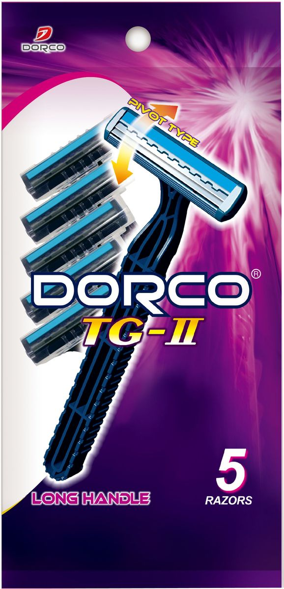Dorco Cтанки для бритья Dorco 2, c увлажняющей полоской и плавающей головкой, одноразовые, 5 шт. станок для бритья dorco