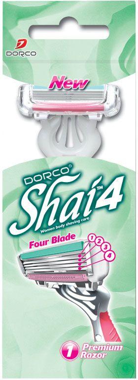 Dorco Станок для бритья Shai 4, одноразовый, женский станок для бритья dorco