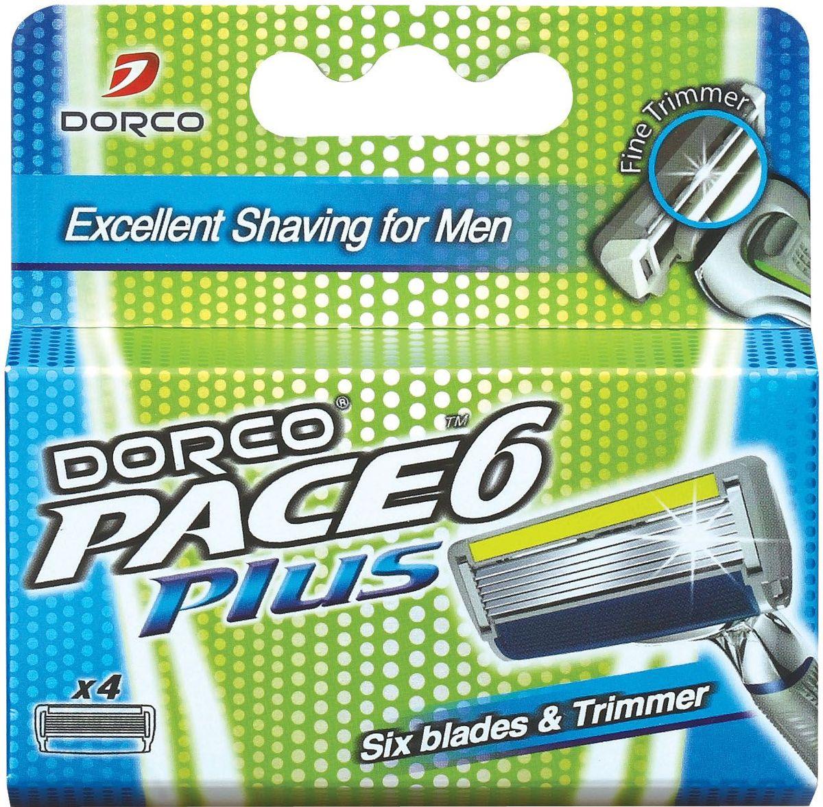 """Dorco Kассеты для бритья """"Pace 6"""", c триммером, 4 шт."""