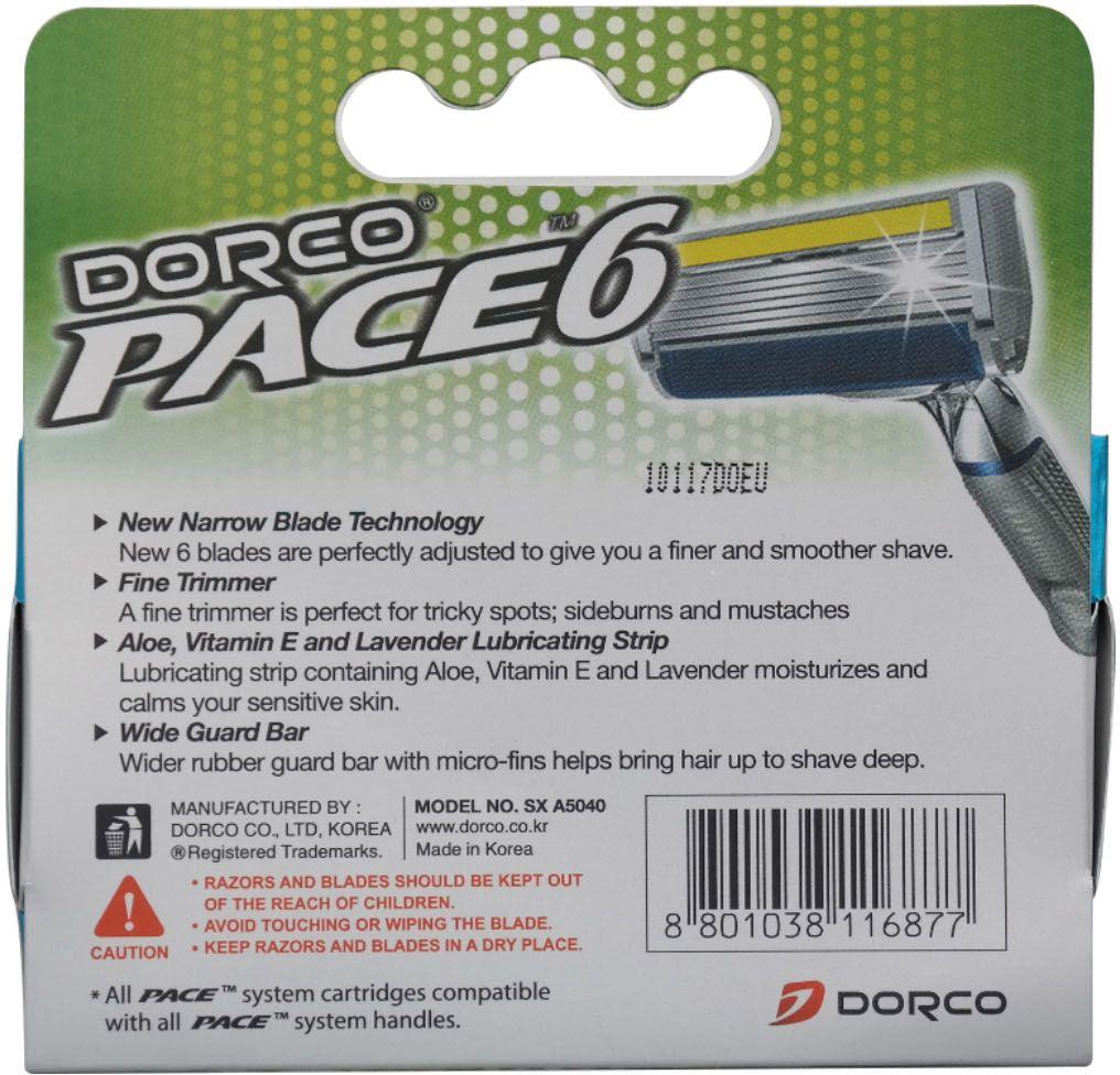 Dorco Kассеты для бритья Pace 6 c триммером 4 шт