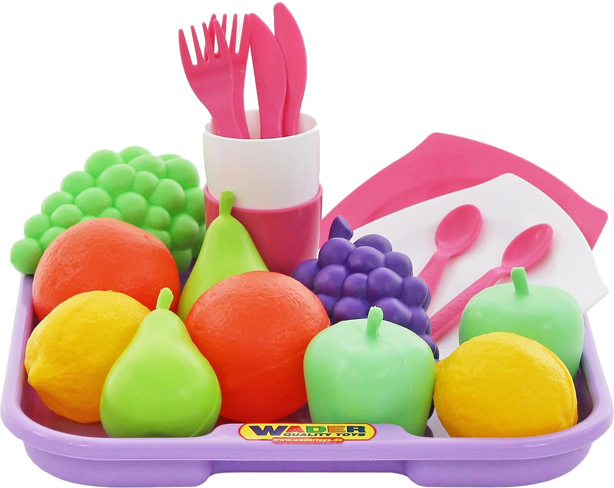 519b7f6d59443 Полесье Игрушечный набор продуктов №2 с посудой и подносом, цвет в  ассортименте — купить в интернет-магазине OZON с быстрой доставкой