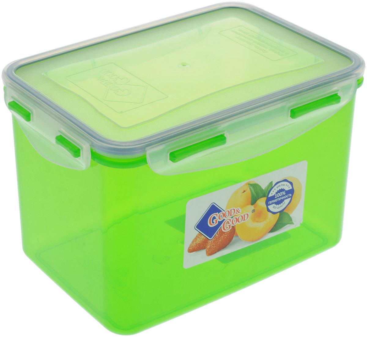 Контейнер пищевой Good&Good, цвет в ассортименте, 2,2 л контейнер пищевой good