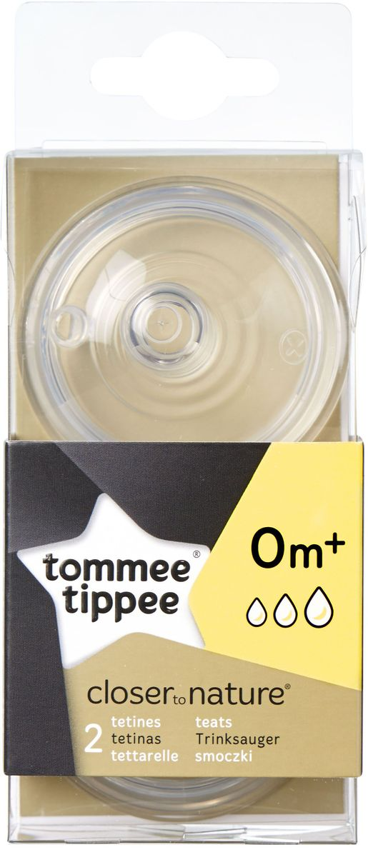 Tommee Tippee соски для бутылочки Close To Nature Переменный Поток 2 шт.