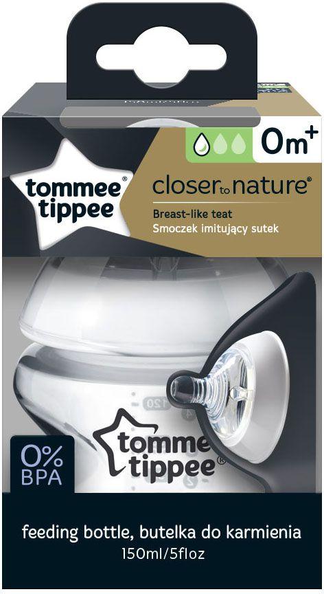 Бутылочка для кормления tommee tippee  5010415224002, 150 мл с антиколиковым клапаном, медл. поток