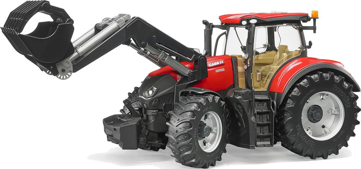 лучшая цена Bruder Трактор Case IH Optum 300 CVX с погрузчиком