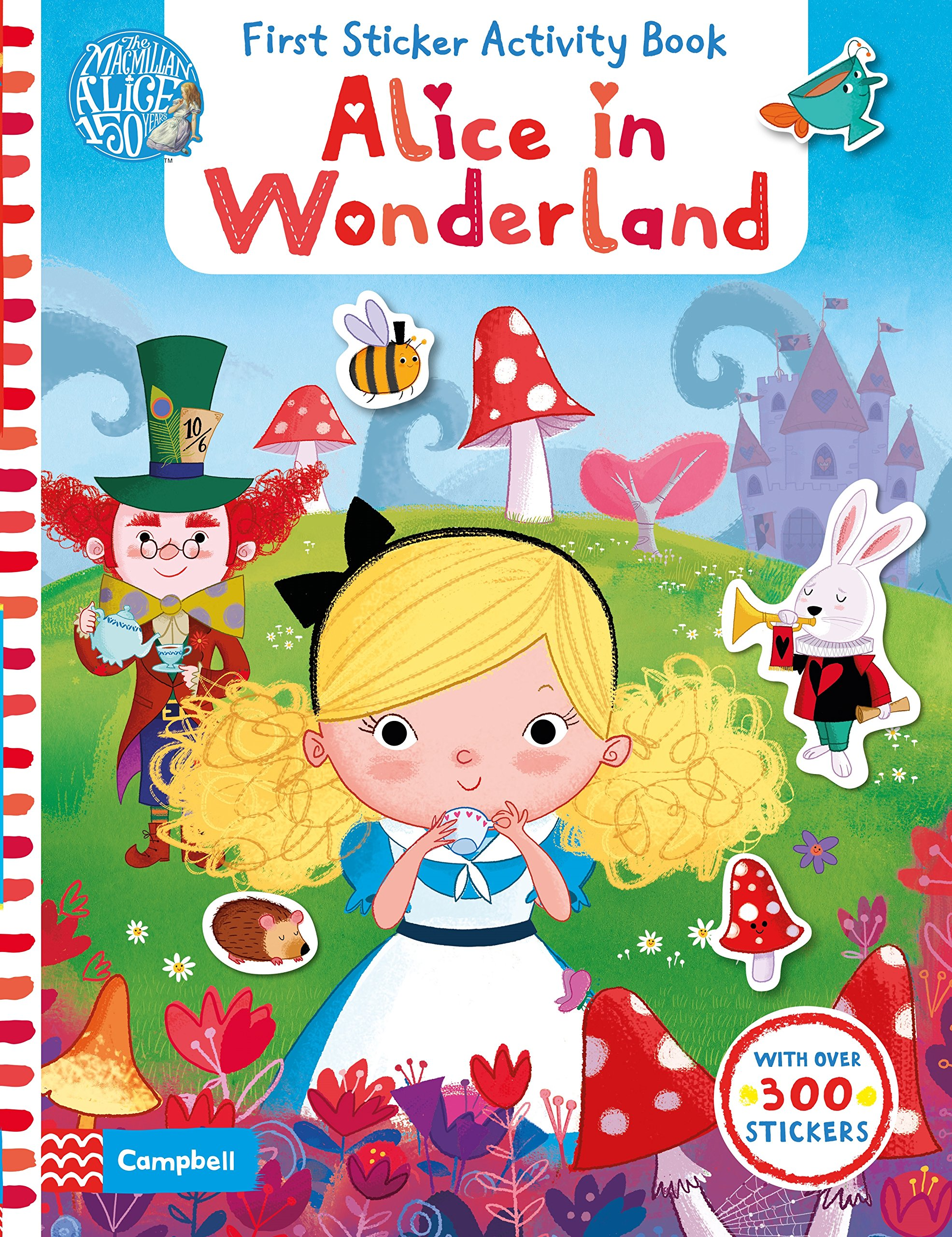 Alice in Wonderland: First Sticker Activity Book 2018 yiwi never stationery rose standard six hole notebook handbook loose leaf page separator page index page