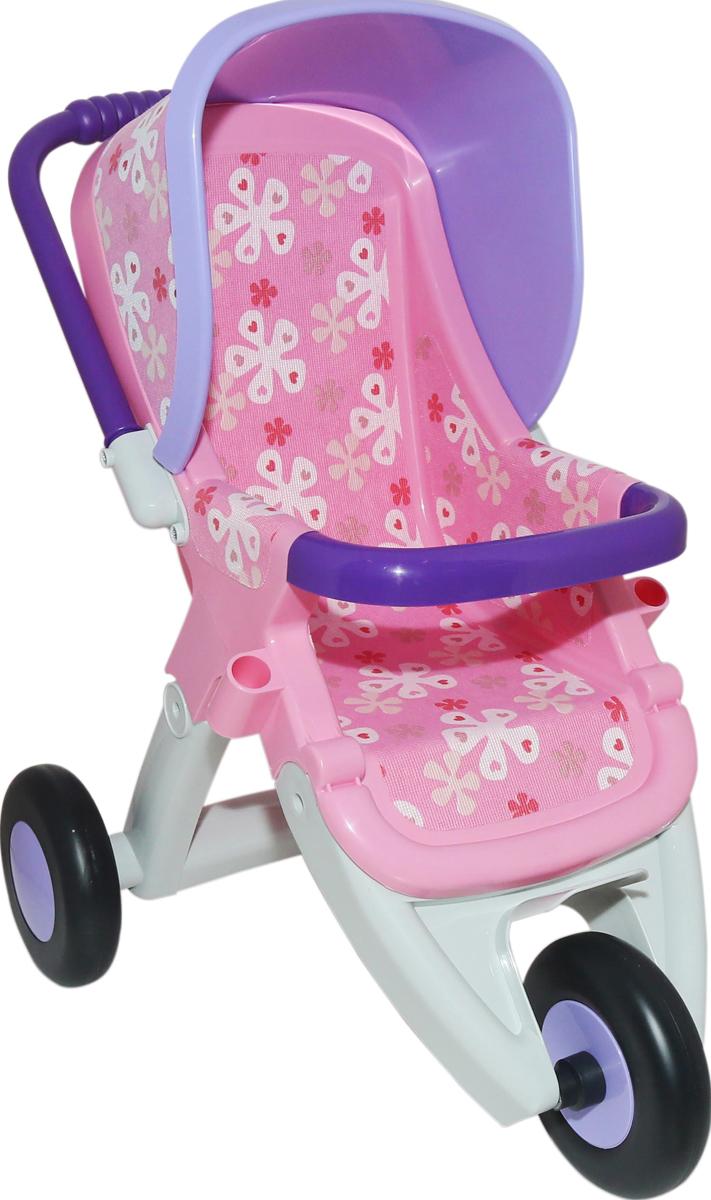 Фото - Полесье Коляска для кукол прогулочная №2 трехколесная, цвет в ассортименте коляска трехколесная edgar