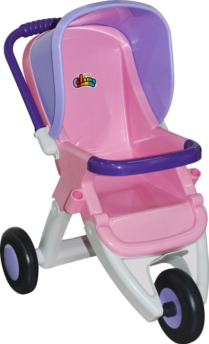 Фото - Полесье Коляска для кукол прогулочная трехколесная, цвет в ассортименте коляска трехколесная edgar