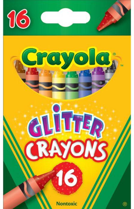 цена на Crayola Набор восковых мелков с блестками 16 шт