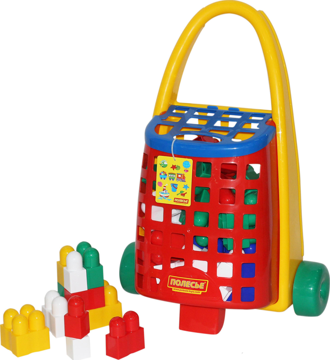 Полесье Конструктор Combi Blocks + Забавная тележка, цвет в ассортименте