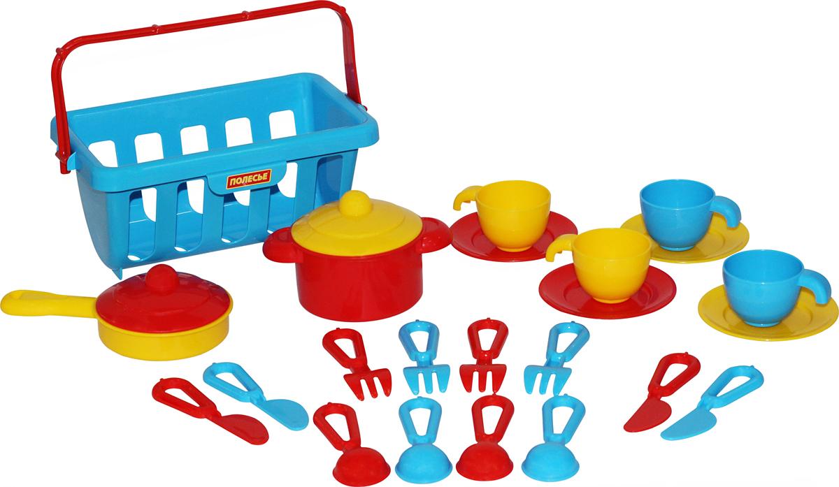Полесье Набор игрушечной посуды Top Chef 42651, цвет в ассортименте игра полесьенабор детской посуды top chef с корзинкой 42637