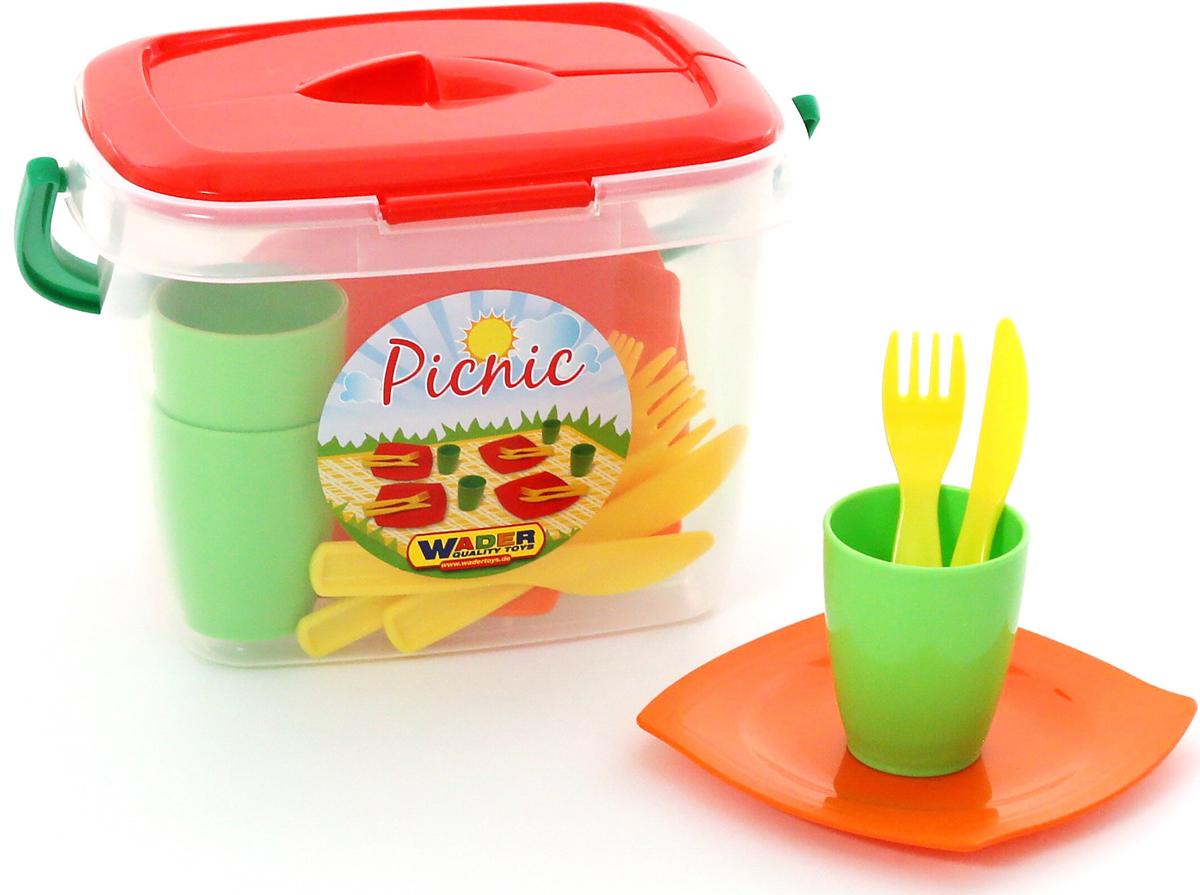 Полесье Набор игрушечной посуды Алиса для пикника №1, цвет в ассортименте полесье набор для пикника 9 на 6 персон 54 элемента в контейнере