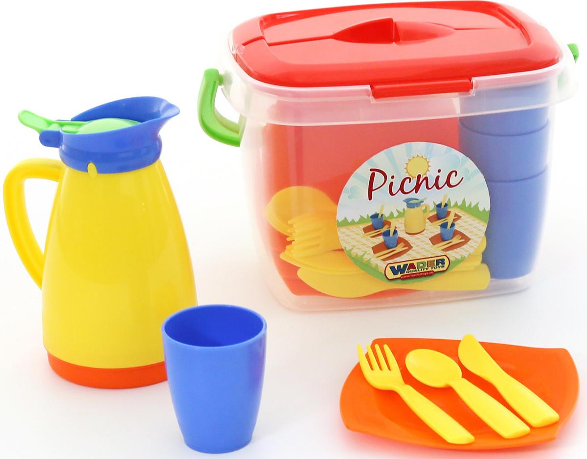 Полесье Набор игрушечной посуды Алиса для пикника №2, цвет в ассортименте полесье набор для пикника 9 на 6 персон 54 элемента в контейнере