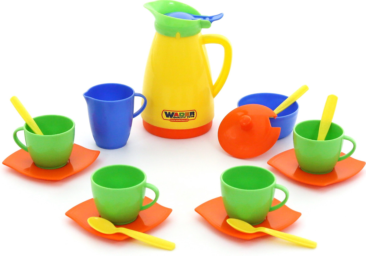 Полесье Набор игрушечной посуды Алиса 40619, цвет в ассортименте ролевые игры лена набор посуды чайный набор two tea