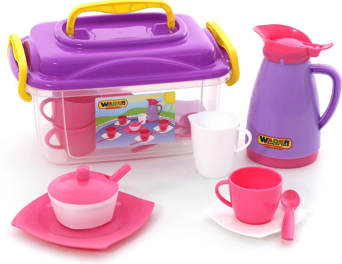 Полесье Набор игрушечной посуды Алиса 53480, цвет в ассортименте цена 2017