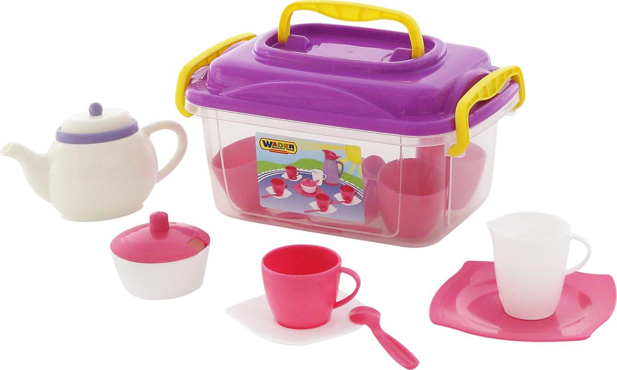 Полесье Набор игрушечной посуды Алиса на 4 персоны 58980, цвет в ассортименте ролевые игры лена набор посуды чайный набор two tea