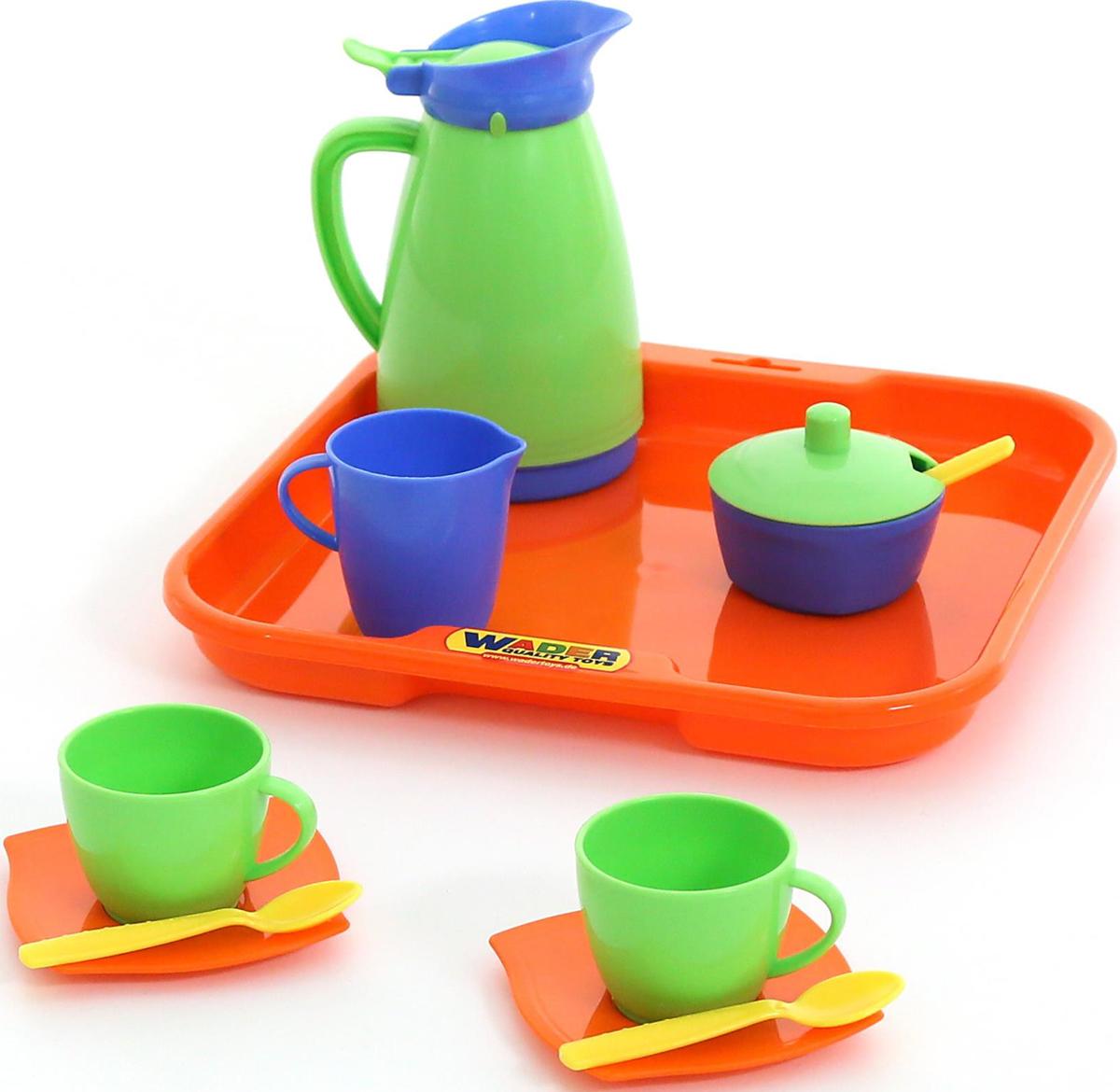 Полесье Набор игрушечной посуды Алиса 40572, цвет в ассортименте ролевые игры лена набор посуды чайный набор two tea