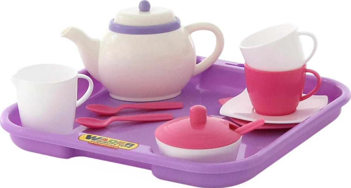 цена на Полесье Набор игрушечной посуды Алиса 58959, цвет в ассортименте