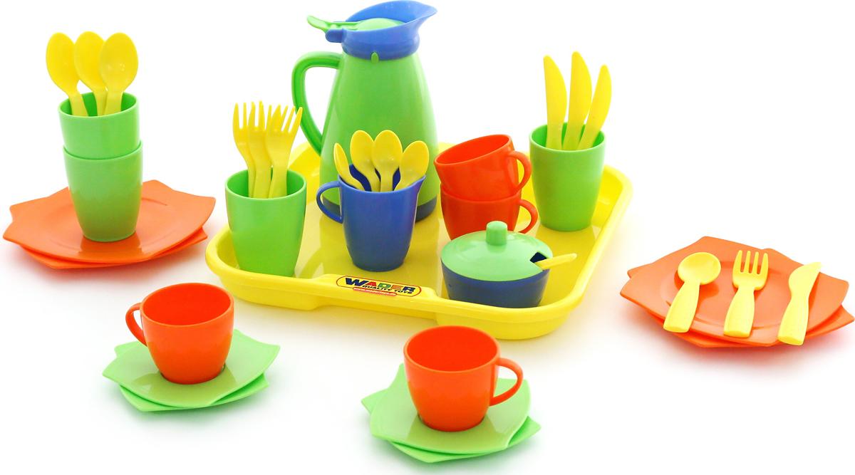 Полесье Набор игрушечной посуды Алиса 40640, цвет в ассортименте наконечники jagwire оболочек 10х4 5мм 6х5мм и тросов 4 штуки зелёные комплект cha099 ej