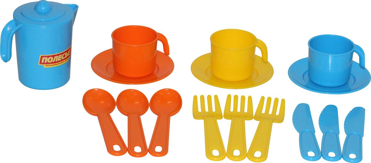 цена на Полесье Набор игрушечной посуды Анюта 3834, цвет в ассортименте