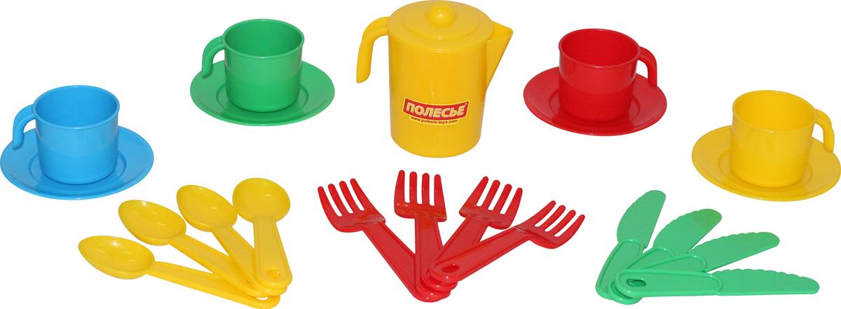 цена на Полесье Набор игрушечной посуды Анюта 3841, цвет в ассортименте