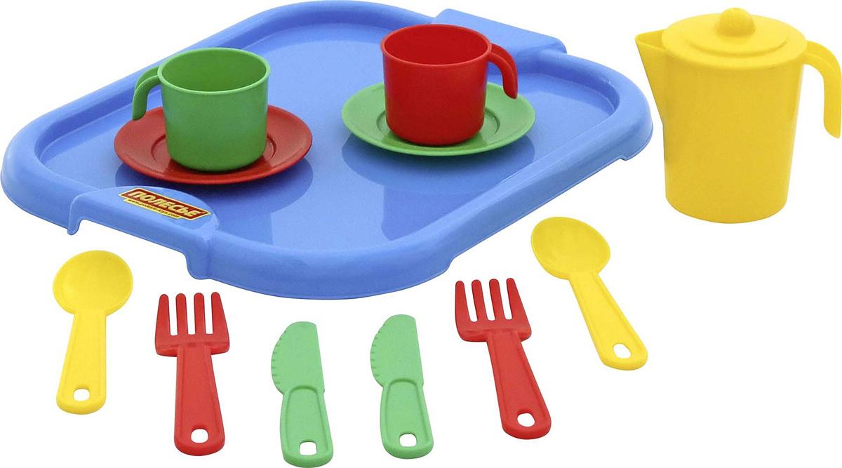 цена на Полесье Набор игрушечной посуды Анюта 3865, цвет в ассортименте