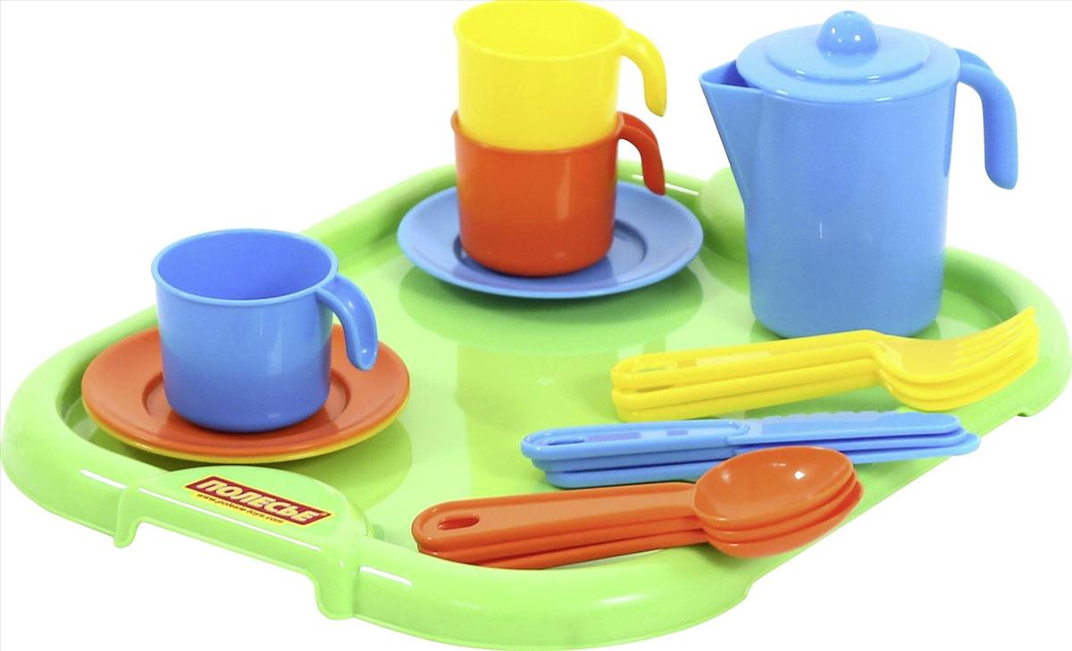 цена на Полесье Набор игрушечной посуды Анюта 3872, цвет в ассортименте