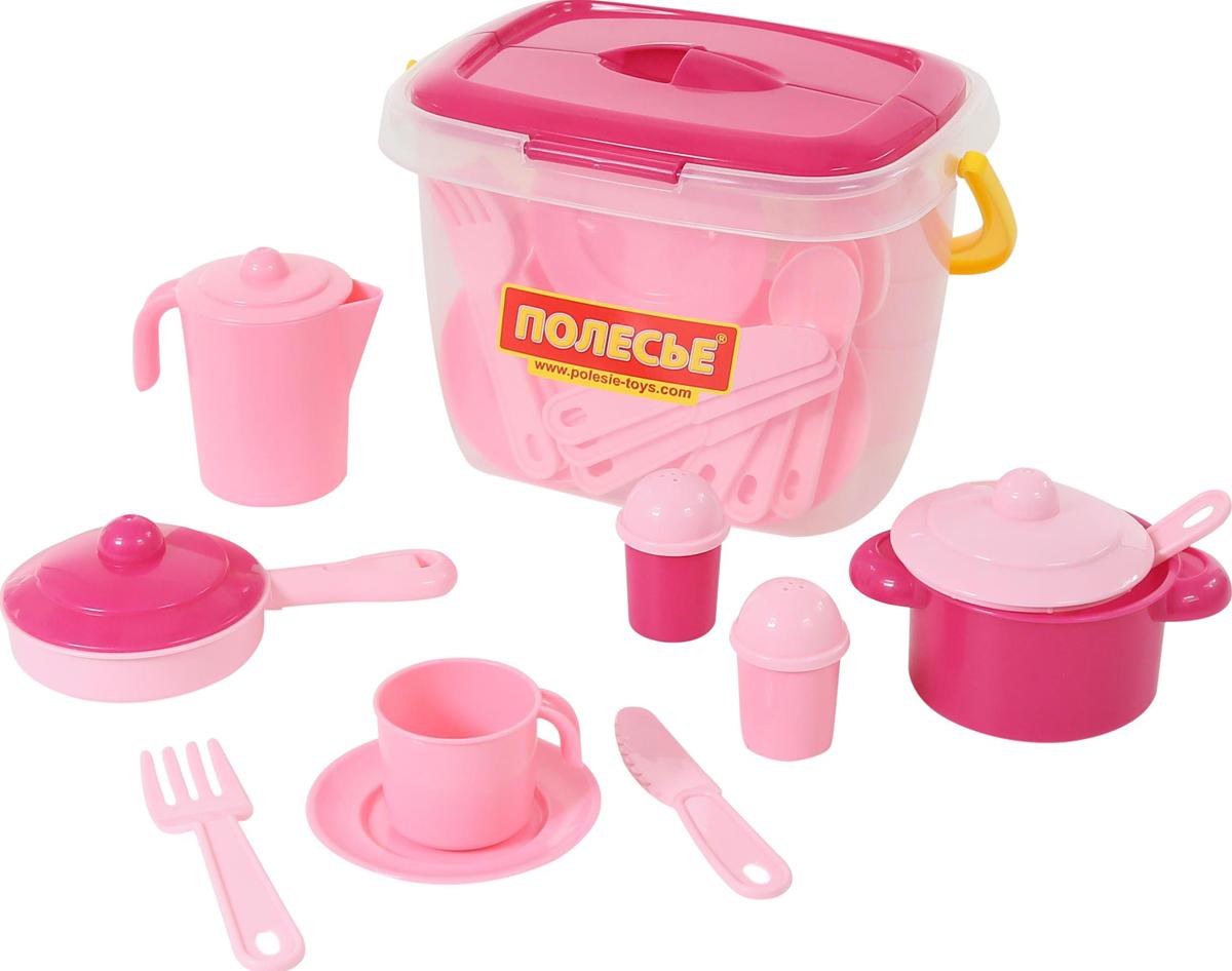 Полесье Набор игрушечной посуды Настенька 56566, цвет в ассортименте полесье столовый набор игрушечной посуды на 4 персоны цвет в ассортименте