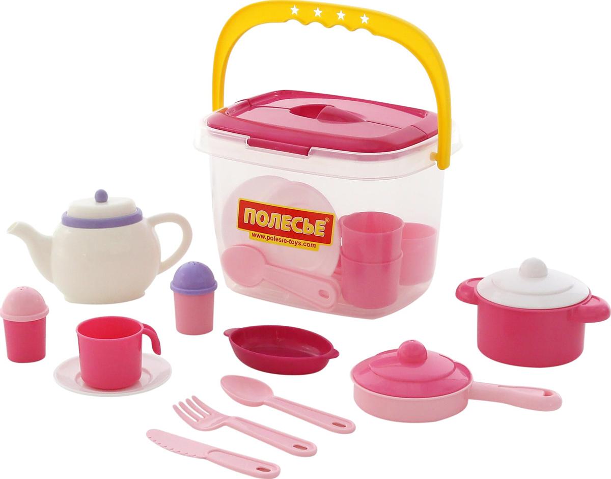 Полесье Набор игрушечной посуды Настенька 59031, цвет в ассортименте полесье столовый набор игрушечной посуды на 4 персоны цвет в ассортименте