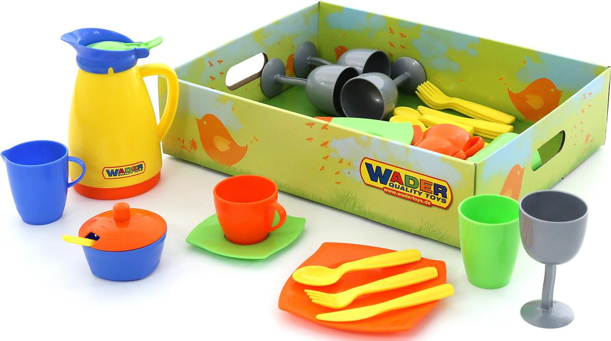 Полесье Набор игрушечной посуды Праздничный, цвет в ассортименте полесье столовый набор игрушечной посуды на 4 персоны цвет в ассортименте