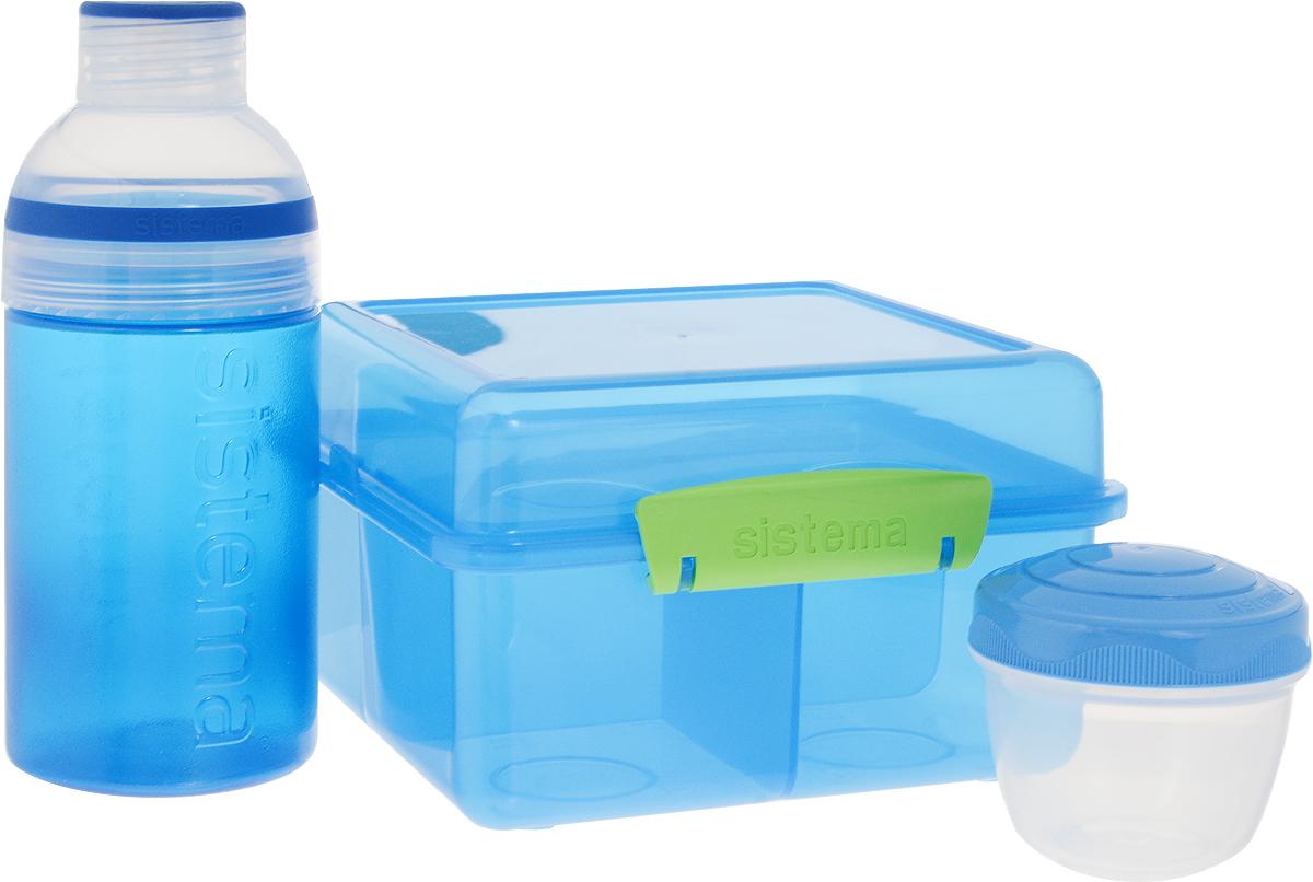 "Набор Sistema ""Lunch"": ланчбокс 2 л, контейнер 150 мл, бутылка 480 мл"