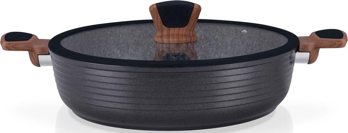 Сотейник Fissman Diamond Grey, с антипригарным покрытием. Диаметр 28 см сотейник fissman palmanova с крышкой с антипригарным покрытием диаметр 24 см
